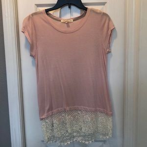 Pink short sleeve top size M